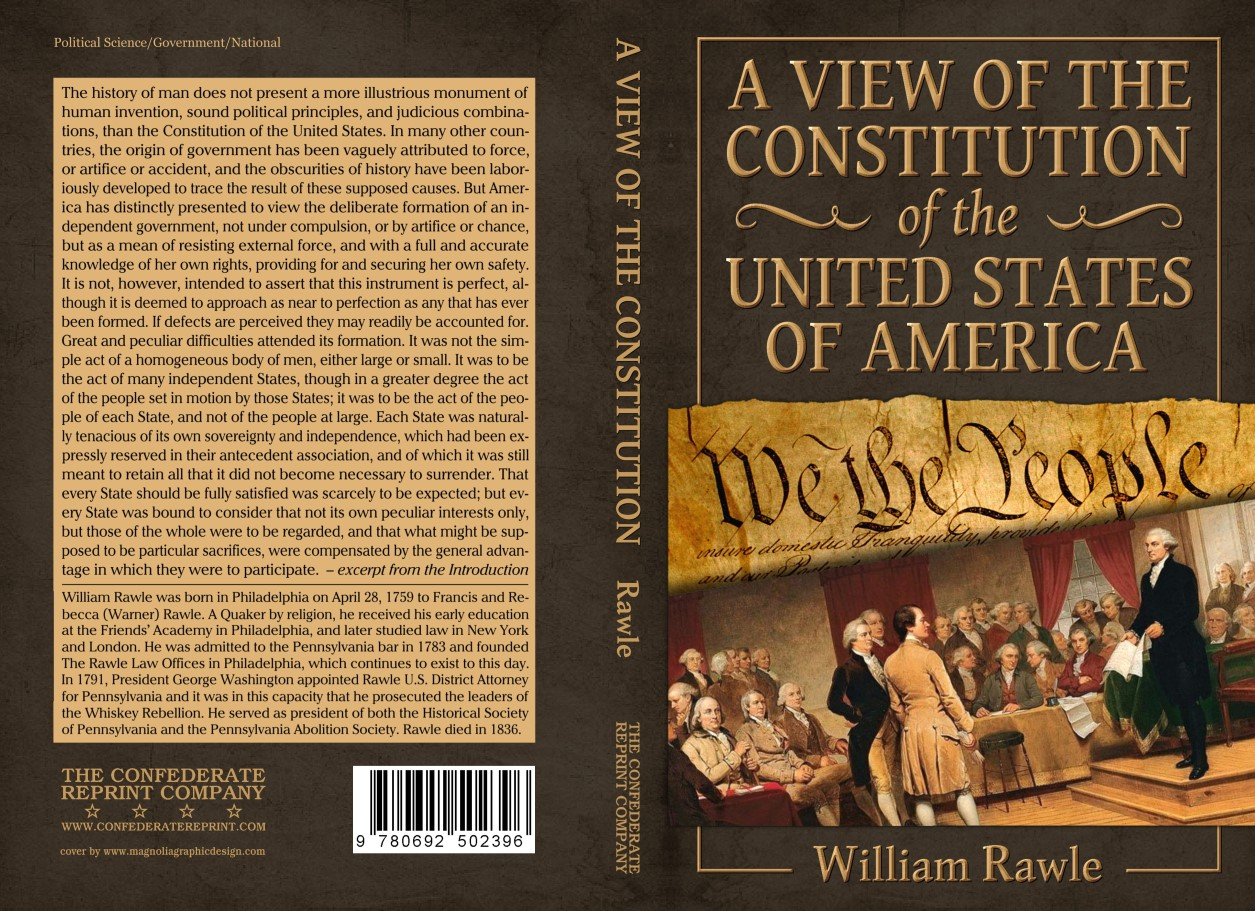 A View Of The Constitution Of The United States Of America By William Rawle
